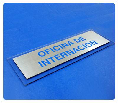 Cartel indicador oficina