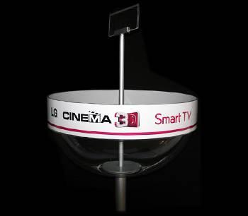 Exhibidor para anteojos 3D.